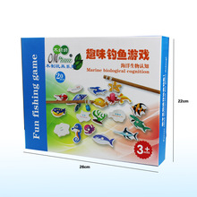 Free shipping Kids marine biological cognition fishing game, marine biological cognition fun fishing game child's gift biological precursor based cognition method for earthquake prediction