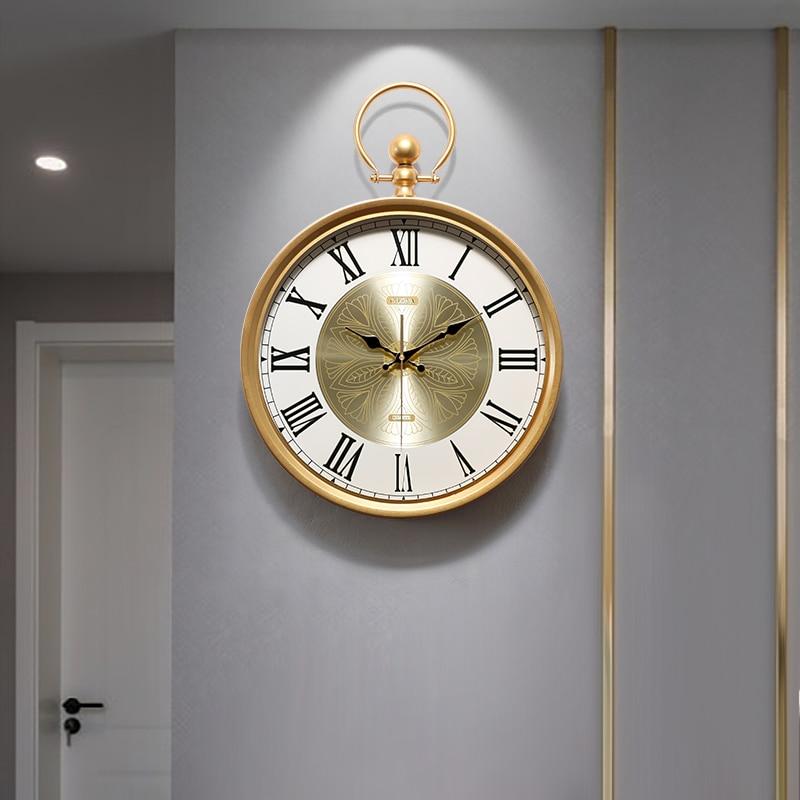Nordic Creative Wall Clock Mute Modern Living Room Simple Luxury Clock Home Fashion Reloj Pared Madera Wall Watch DD6WC