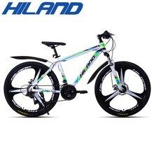 Hiland 26 Polegada bicicleta 21 engrenagens de velocidade mountain bike suspensão da bicicleta com desviador shimano tz50 e freio a disco