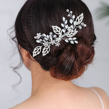 Vintage Wedding Hair comb Beautiful Leaves Headpieces for women Crystal Hair Jewelry