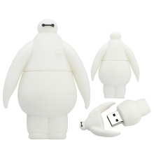 USB Flash Drive Pen 4G 8GB 16GB 32GB 64GB 128GB Memory Pendrive Stick Cute Big Hero White