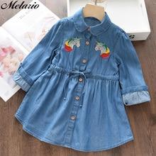 купить Melario Girls Dress 2017 New Brand Girls Clothes European And America Style Cut Loves&Stars Print Baby Girls Dress For 3-9Y по цене 469.6 рублей
