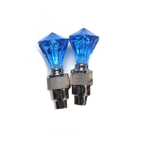 יהלומי אופניים שסתום גזע LED תנועה הופעל אור בטיחות רכיבה על אופניים מנורת גלגל הצמיגים Valve גזע שווי אופנה אופני אביזרים