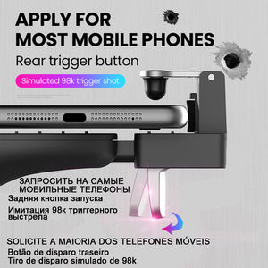 Image 3 - Gamepad Trigger Pubg Controller mobilny Joystick na telefon Android iPhone konsola do gier konsola do gier telefon komórkowy Joypad pabg Gaming