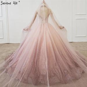 Image 2 - Gradual Change Pink Luxury High end Wedding Dresses 2020 Diamond Beading Sexy Bridal Gowns HX0074 Custom Made