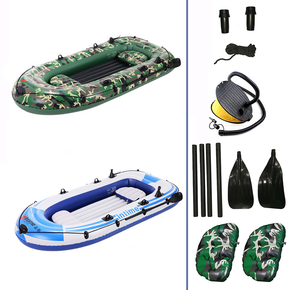 275CM Long Single Seat Inflatable Durable Kayak Canoe Rafting Boat One Pump