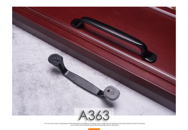 Hb547fa9ad05e44feb2b8d549c2f3280at - American Modern Style Black Cabinet Handles Solid Aluminum Alloy Kitchen Cupboard Pulls Drawer Knobs Furniture Handle Hardware