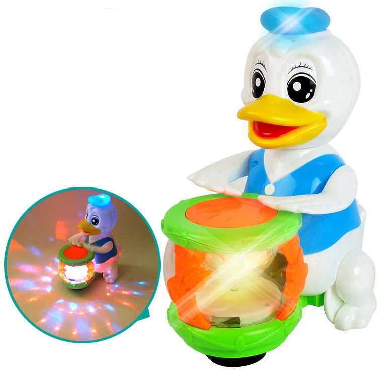 New Products Electric Rotating Beat The Drum Cartoon Children Universal Toy Car Stall Hot Selling Supply Of Goods Glowing Toy
