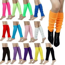 Leggings Leg-Warmers Loose-Style Women Boots Knit Winter Solid Stockings Gift Candy-Color