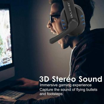 For PS4 Gaming Headset Stereo Sound Headphone 3.5mm Gaming Headset With Mic Volume Control For Nintendo Switch/Xbox One/PC/Phone 2