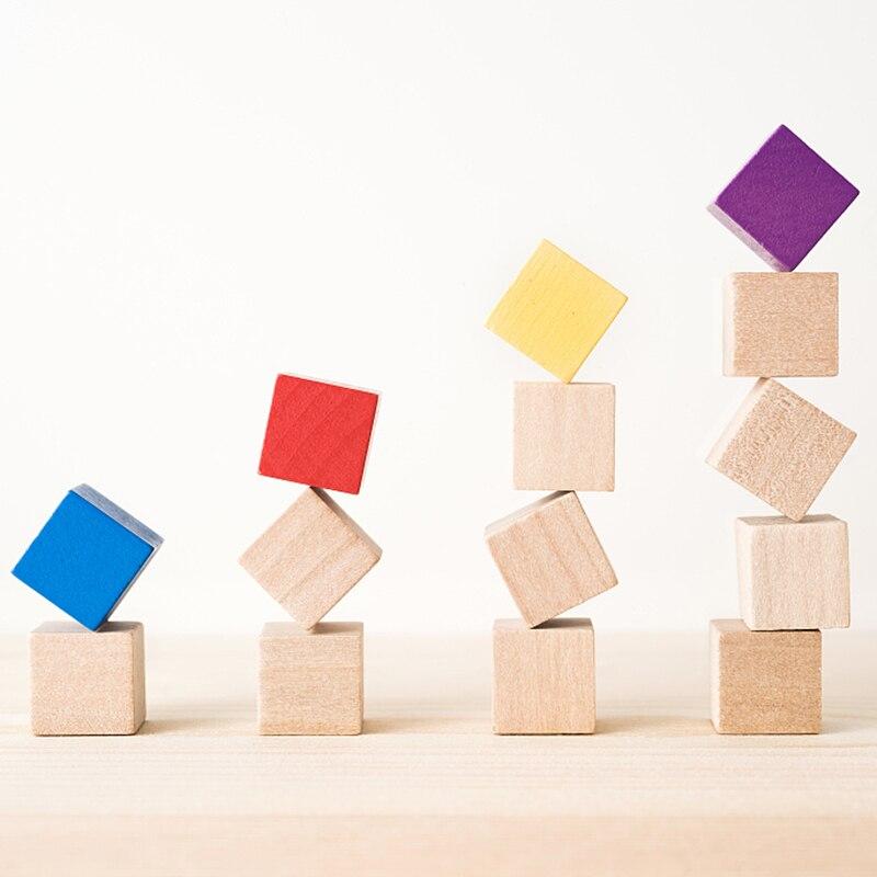 10-50 шт., деревянные кубики, 1-2,5 см