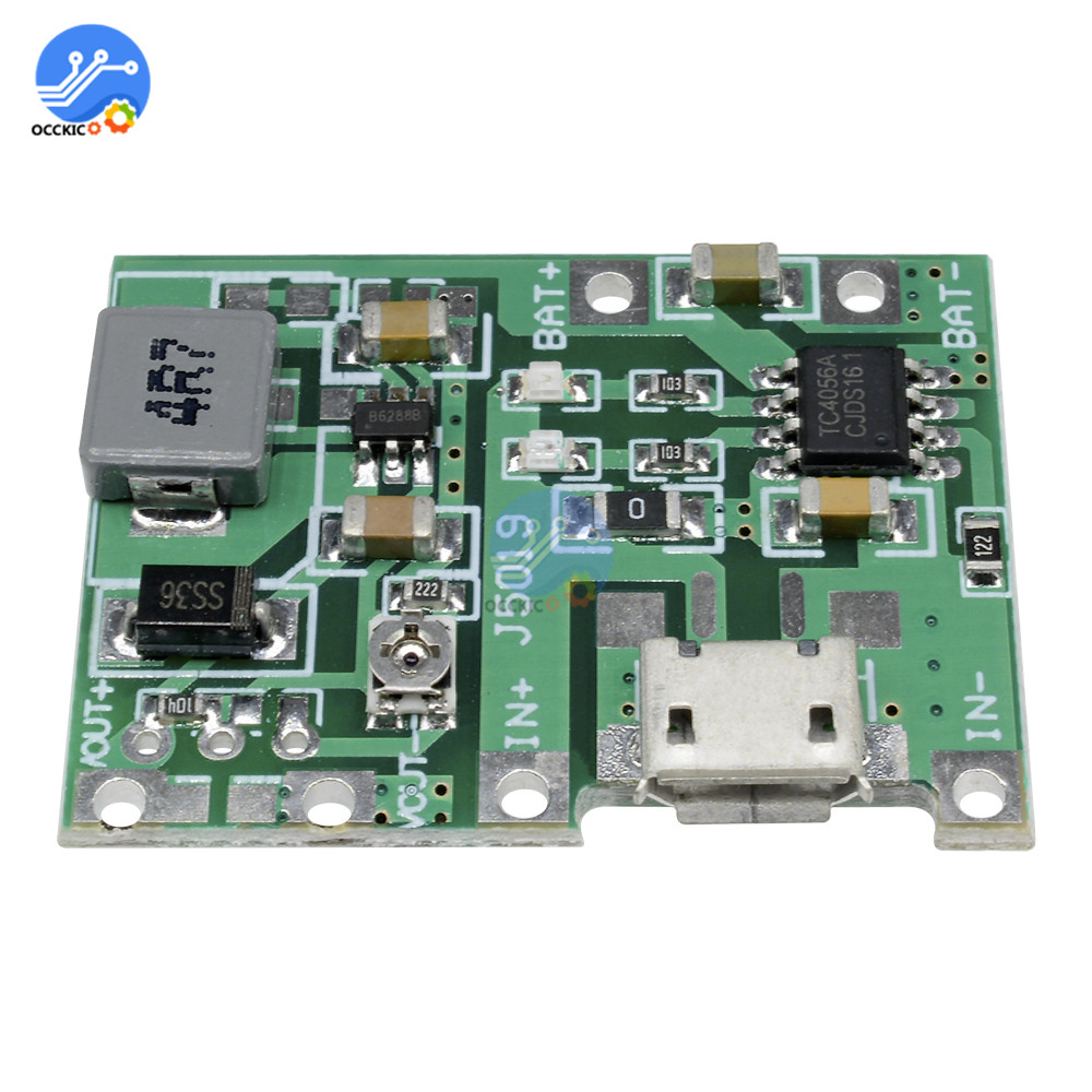 DC-DC 3.7V 4.2V 18650 Lithium Battery Charger Board Step Up Boost Module Power Bank USB Charge Discharge Accessory