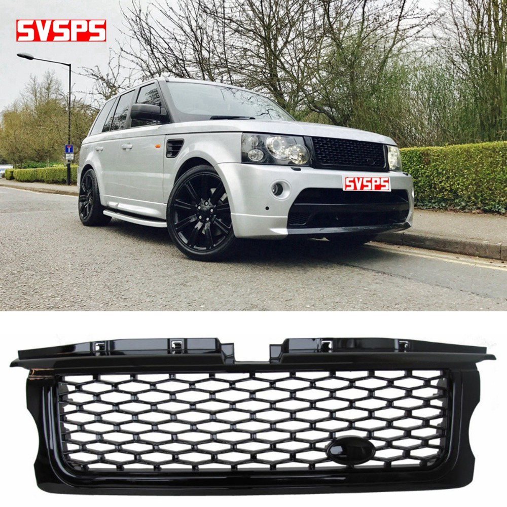 For Land Rover Range Rover Sport 2011-2012 Black Red front grille mesh grill