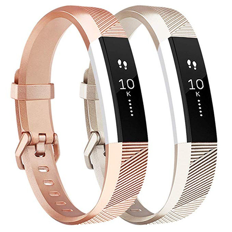 Rose Gold Band For Fitbit Alta HR / Fitbit Alta Smart Watch Wrist Strap For Fit Bit Alta HR Small Large Bracelet