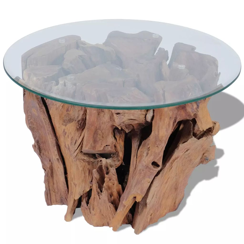 VidaXL Coffee Table Solid Teak 60 Cm
