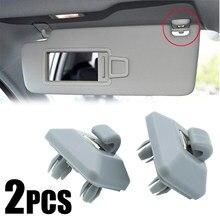 2 uds parasol para coche Clip soporte visera Interior gancho para Audi A1 A3 A4 A5 A7 Q3 Q5 B6 B7 B8 S4 S5 8E0857562A 8U0857562 gris
