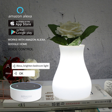 WiFi Smart APP Control RGB LED Table Lamp Restaurant Coffee Bar Dining Room Vase Ambient Night Light Work With Alexa Google Home