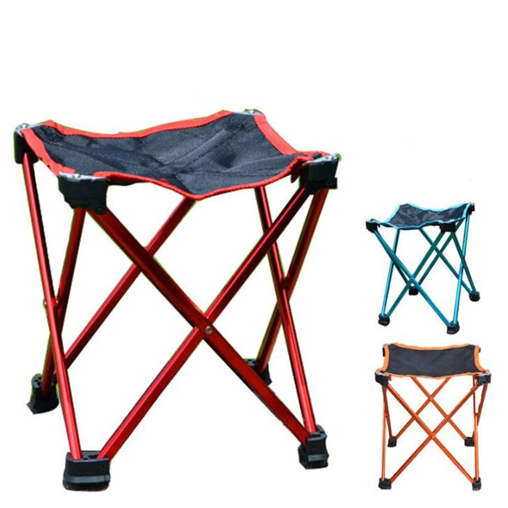 Multifunctional Folding Chairs Outdoor Camping Portable Folding Chairs Camping BBQ Beach Seat Aluminum Folding Stool