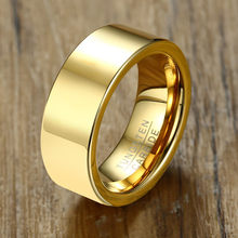 ZORCVENS 2019 New 8mm Man Punk Gold Color Tungsten Ring for Men Jewelry Wholesale(China)