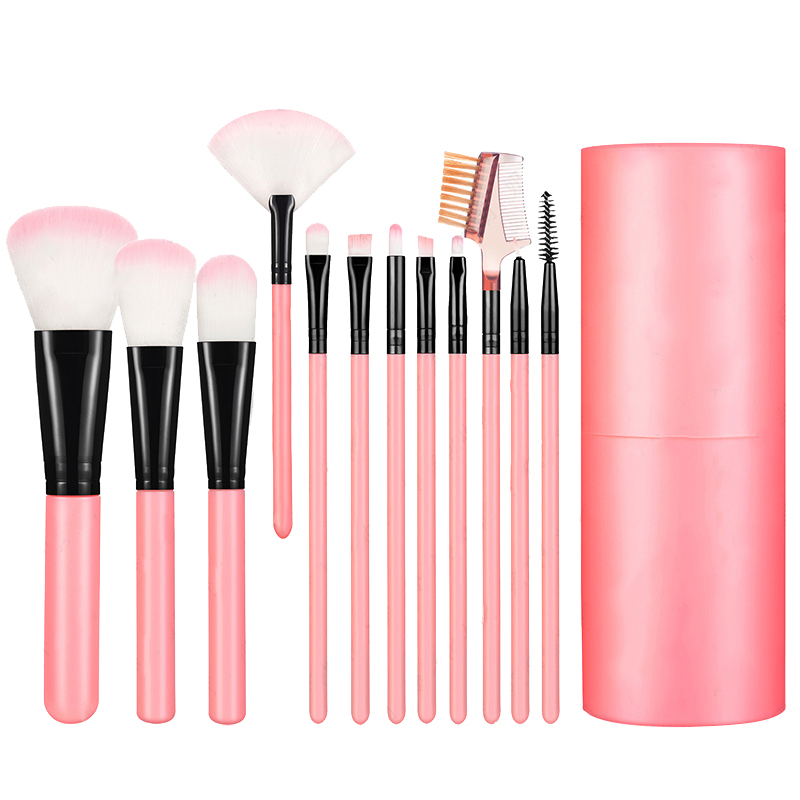 12Pcs Makeup Brushes Set Make Up Fan Foundation Powder Eyeshadow Face Soft Brush With Brush Case Cup with Holder in Eye Shadow Applicator from Beauty Health