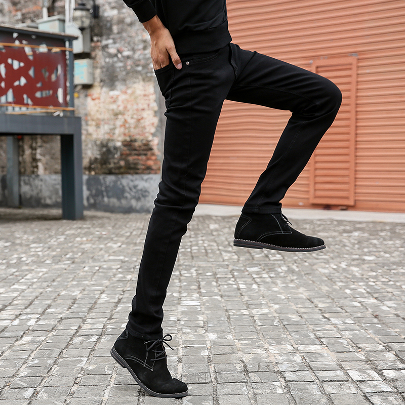 CHOLYL Mens Skinny Jeans 2018 New Classic Male Fashion Designer Elastic Straight Black Jeans Pants Slim Fit Stretch Denim Jeans