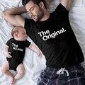 Die Original Remix Familie Passenden Outfits Papa Mama Kinder T-shirt Baby Body Familie Aussehen Vater Sohn Kleidung Vater der Tag geschenk