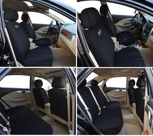 Image 5 - Cubierta de asiento de coche completo Universal, cubierta de asiento para vehículos, color negro, para peugeot