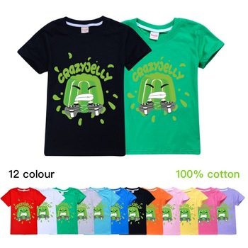 Jelly Youtube Boys Clothes Fashion 12 color T Shirt Kids Clothes Girls Fall Outfits Spring Child Student Unisex 1