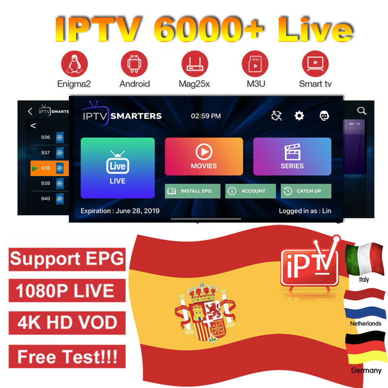 Best IPTV M3u Subscription Spain Portugal Netherlands 1 Year Subscription Europe Germany Poland Live TV For Android Box Enigma2