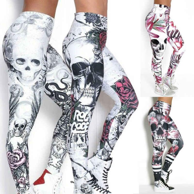 Women 3D Printed Camouflage Leggings Workout Leggins Slim Elastic Yoga Pants