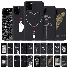 Menina amante do corpo rosa caso macio para iphone 7 8 plus x xs max xr coque caso para iphone 5 5s se 6 6s plus 11pro telefone capa casal(China)