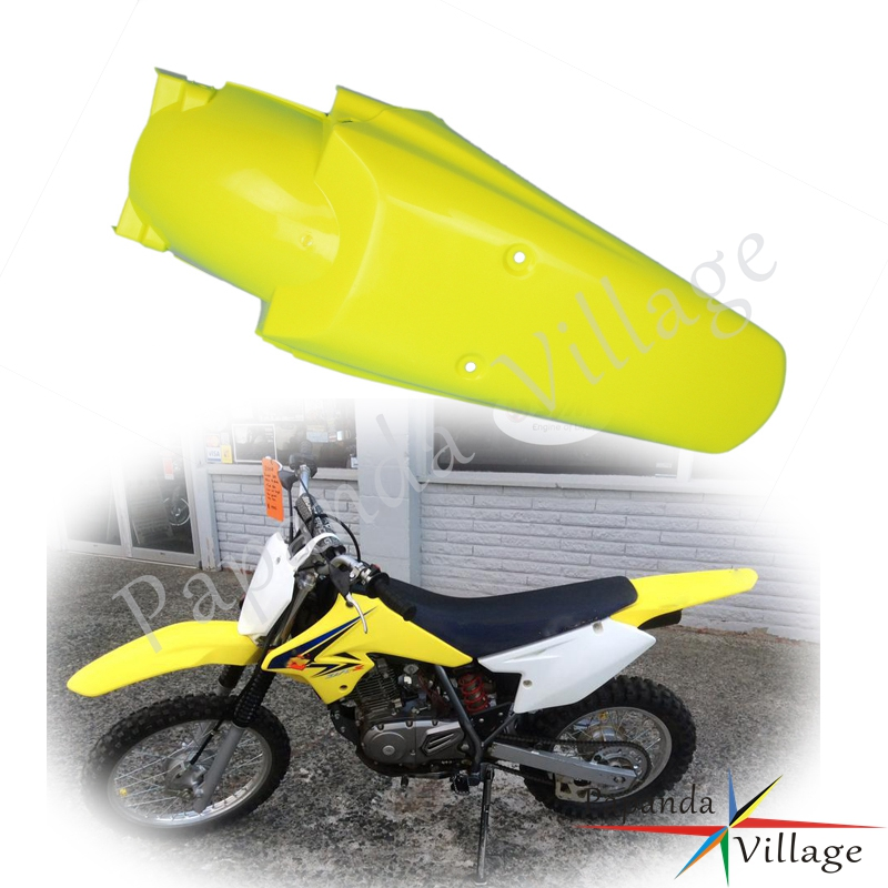 Yellow Dual Sport Rear Fender Motocross Tail Mudguard Splash Cover For SUZUKI <font><b>DR</b></font> DRZ 70 125 125L <font><b>200</b></font> 400 RM 85 100 RMZ 250 450 image