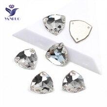 YANRUO 3272, все размеры, кристально чистые триллиантные стеклянные камни, стразы с плоской задней частью, стразы для рукоделия, сшитые Стразы для одежды