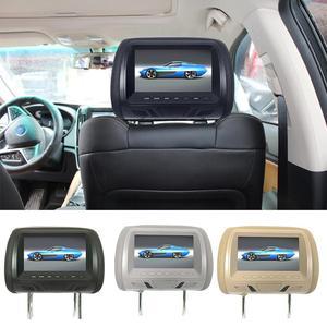 Automotive General 7-inch HD Foldable Car Rear View Headrest HD Digital Screen LCD Crystal Display Car Headrest DVD Player