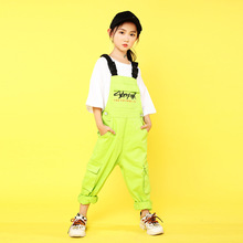子供ダンス服ジャズ社交ダンスの競技会衣装tシャツトップスパンツヒップホップの衣装のショーステージ着用