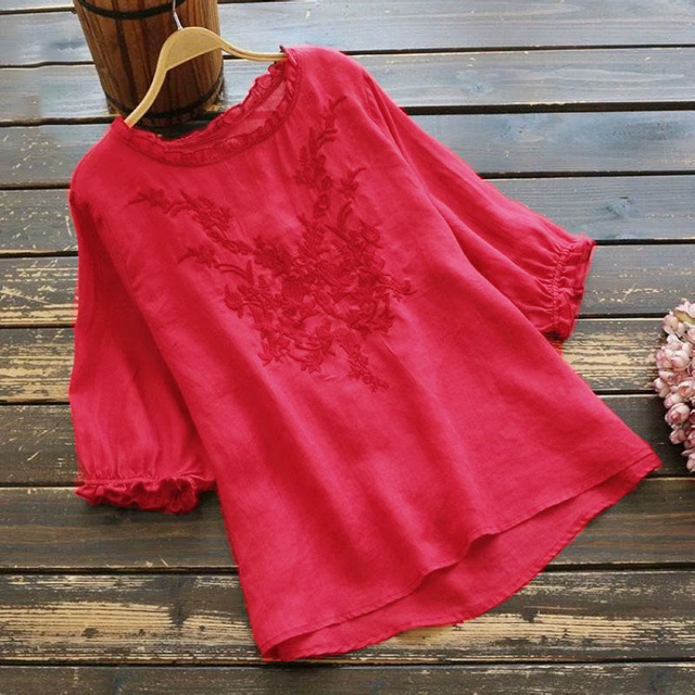 embroidered comfy t-shirt top 5