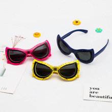 Cartoon Yellow Red Kids Sunglasses Children Pink Sun Glasses Boys Girls Baby Colored Lenses Outdoor Vogue New Trends 2021 Gifts