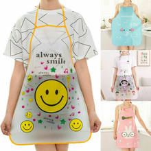 1 Pcs Cute Cartoon Animal Donne Impermeabile Grembiule da Cucina Ristorante Grembiuli da Cucina Anti-Olio Bib Cocina Barbecue di Cottura Tablier(China)