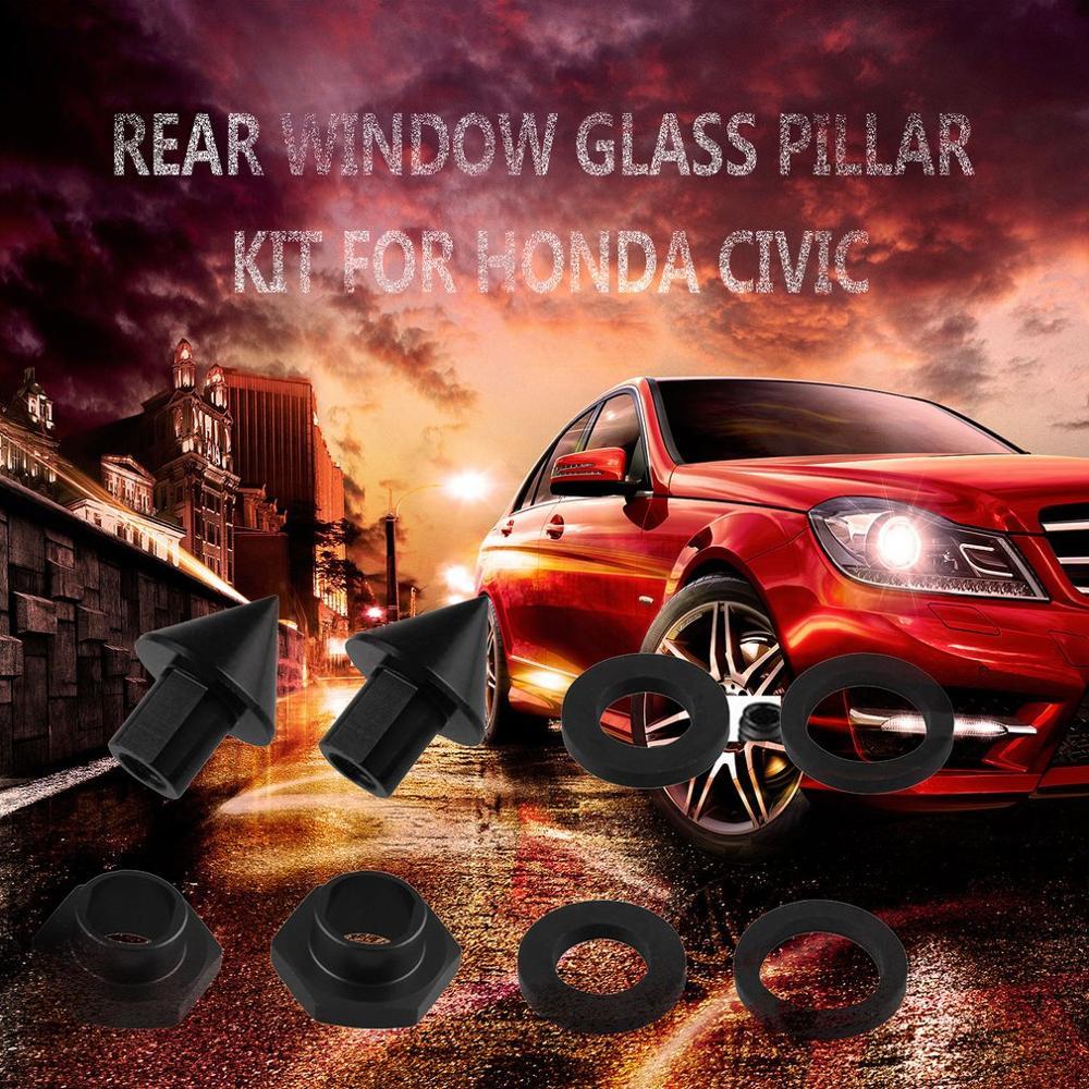 Red Rear Window Strut Hardware Kit For 92-95 Honda Civic 3Dr Hatchback EG6 CRV
