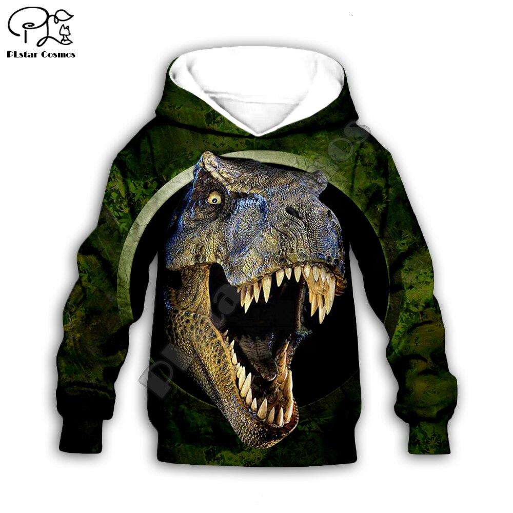 Kids Baby Boy Girl Toddlers Jurassic Dinosaur Print 3d Hoodies Cartoon Tracksuit Children Clothing Set Cute Sweatshirts T Shirts