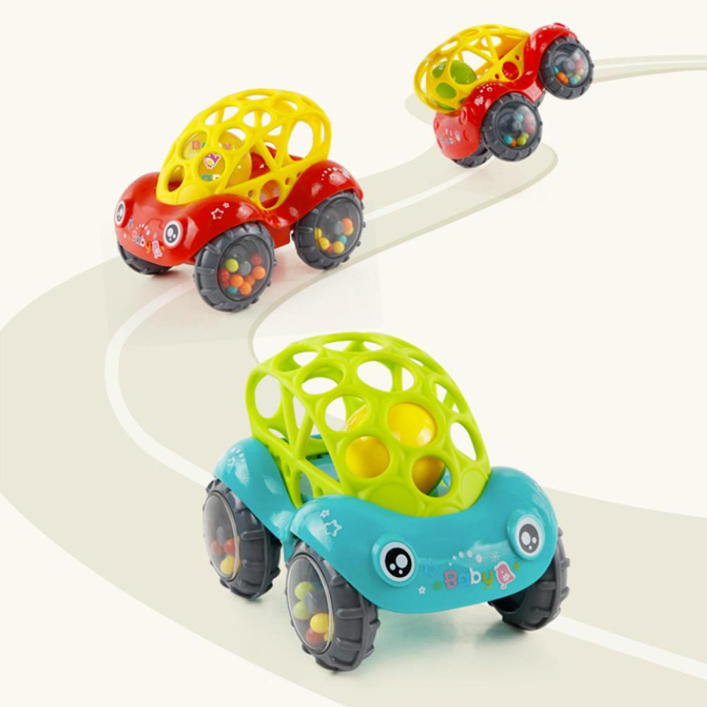 Baby Car Toy Soft Rubber Toy Baby Hand Grab Catch Car Player Rattle Music Bell Wave Drum Interactive Entertainment Children Gift