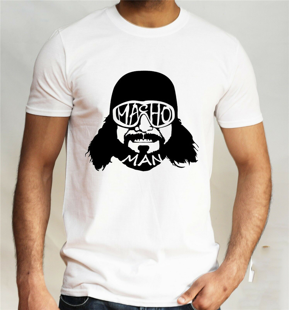 WWF Macho Man T-Shirt Funny Randy Savage Pro Wrestler Novelty Gift Top Mens Tee Shirt Free Shipping Tops