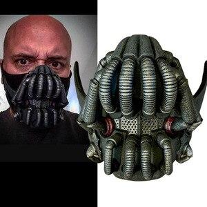Movie The Dark Knight Batman Bane Mask Cosplay Props Latex Masks Halloween Helmets Mascarillas