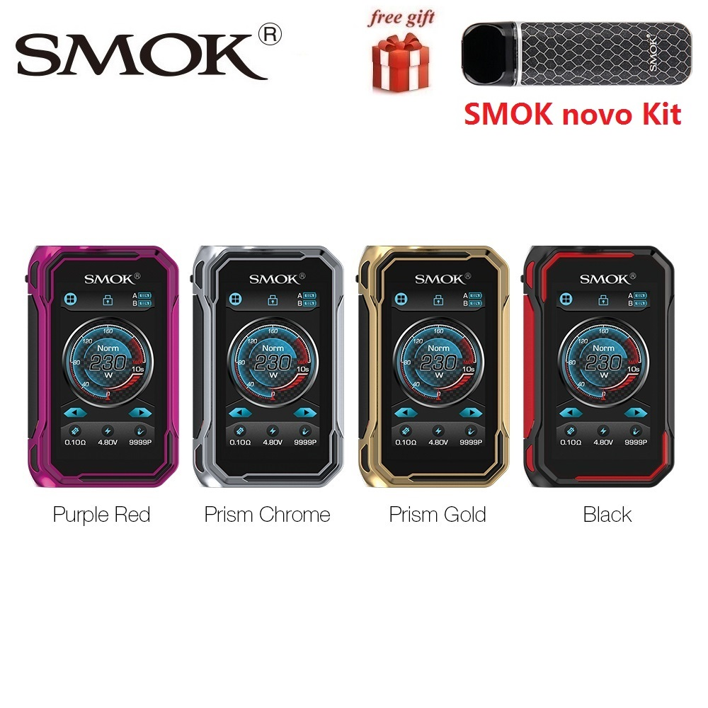Оригинальный SMOK G priv 3/G priv 3 коробка мод 230 Вт Питание от двойной батареи 18650 для TFV16 LITE танк электронная сигарета Vape vs G priv 2