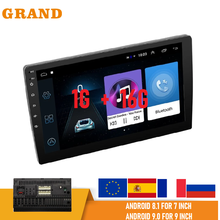 Android 9,1 7'' 9'' Zoll Touch Screen Auto Radio 1 + 16G Multimedia Player Navigation 2DIN Bluetooth Universal GPS stereo Empfänger