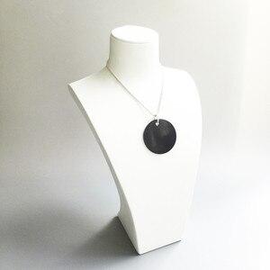 Image 5 - Czarny onyks ogromne płyty wisiorki posrebrzane Fit Chain naszyjniki bransoletki, rozmiar 45mm Thomas Style Glam Disk Ts biżuteria dla kobiet