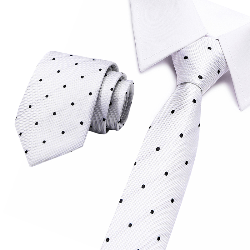 New Classical  Jacquard Woven 100% Silk Men's Necktie Striped Ties For Men Business Flomal  Wedding Party Gift