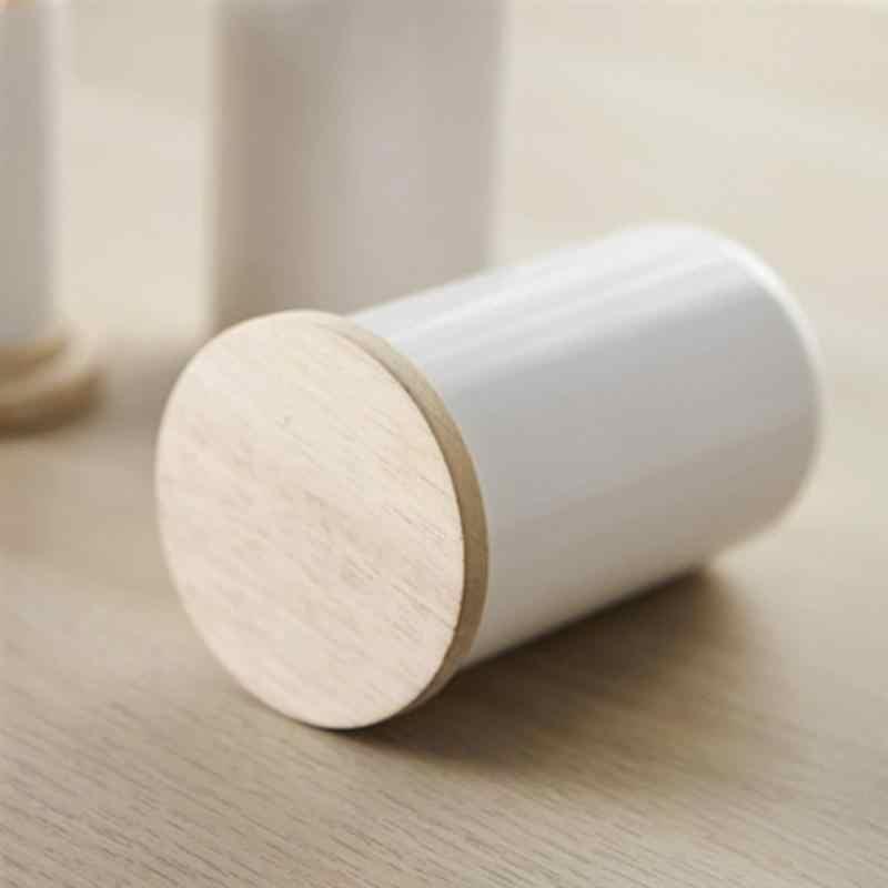 Organizador pequeno de almacenamiento de palillos de dientes Q-tips Cacto SODIAL Soporte de Bastoncillo de algodon