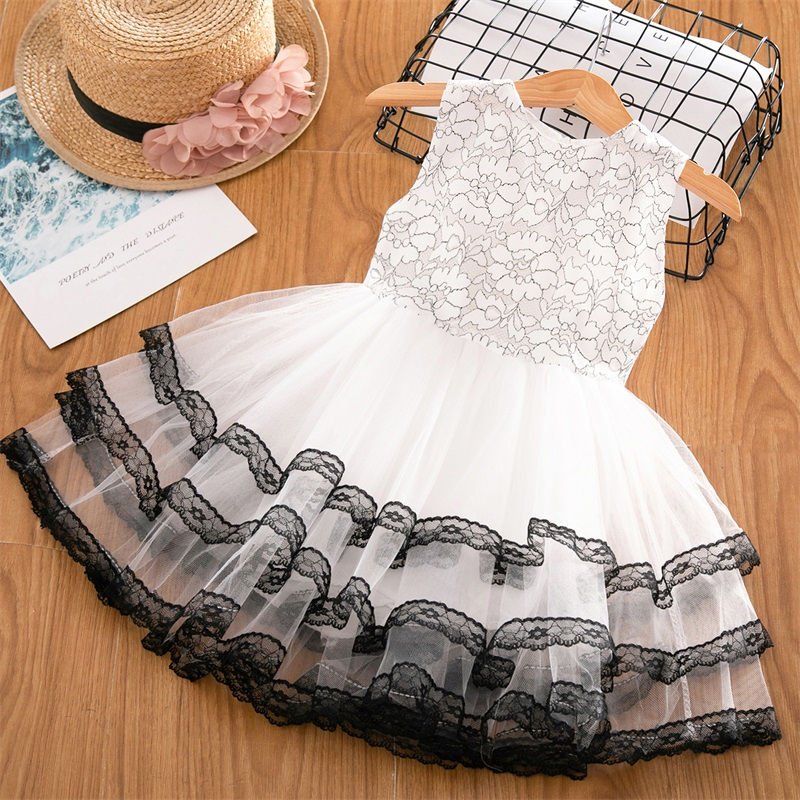 Hb54b3beb075a4161834824504466a3c50 Girls Dress 2019 New Summer Brand Girls Clothes Lace And Ball Design Baby Girls Dress Party Dress For 3-8 Years Infant Dresses