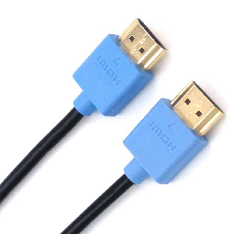 HDMI-compatible Cable 24 Carat Gold Plated Thin Square Head HDMI Version 2.0 HDM 17.8 GBPSCable- High Speed Ethernet